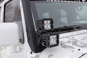 MBRP Dual Windshield Pillar Light Kit | 2007 - 2015 Jeep Wrangler JK