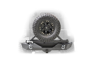 DV8 Offroad RBSTTB-01B Rear Bumper & Tire Carrier | 2007-2018 Jeep JK