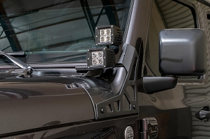 DV8 Offroad A-Pillar Light Pod Mount | 2018-2020 Jeep JL/JT