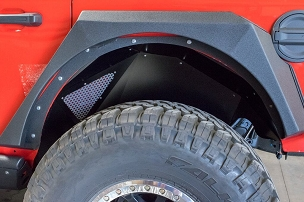 DV8 Offroad Rear Inner Fenders Black | 2018-2020 Jeep JL