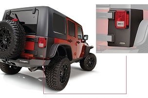 Bushwacker Trail Armor Rear Corner | 2007 - 2018 Jeep Wrangler JK Unlimited