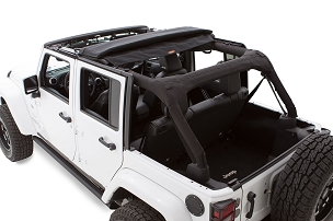 Bushwacker Trail Armor Flatback Soft Top | 2007 - 2018 Jeep Wrangler JK Unlimited